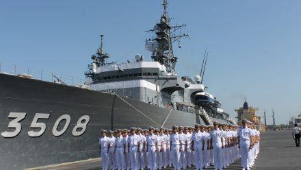 Buques japoneses llegan a Guatemala en misión de paz y cooperación