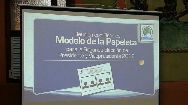 Definen modelo de papeleta para elecciones presidenciales segunda vuelta