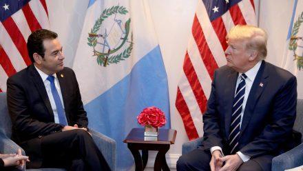 Jimmy Morales y Donald Trump se reunirán el próximo lunes en Washington