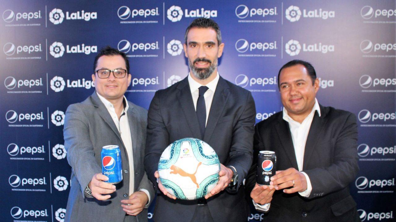 Pepsi Guatemala anuncia convenio de colaboración con el futbol profesional español