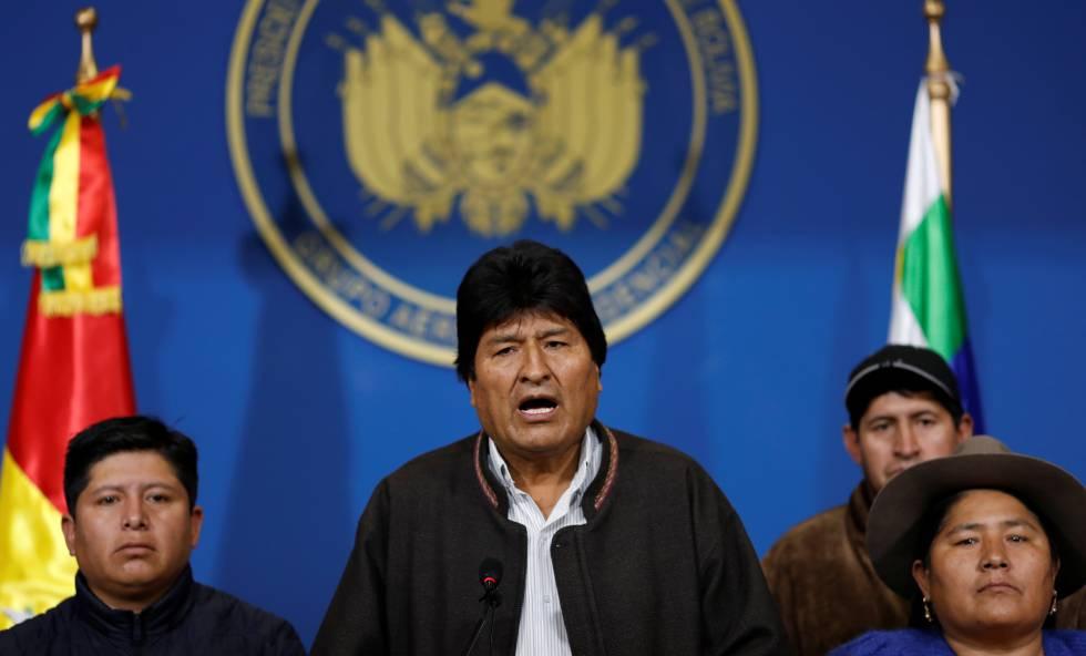 Presidente Evo Morales denuncia golpe de Estado y dimite para evitar enfrentamientos