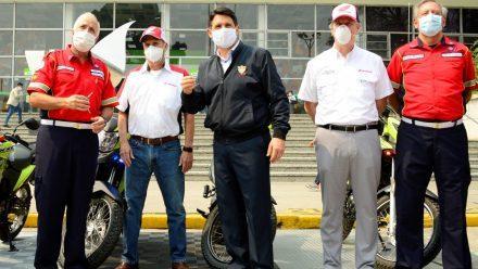Honda dona motocicletas para atender emergencias por COVID-19