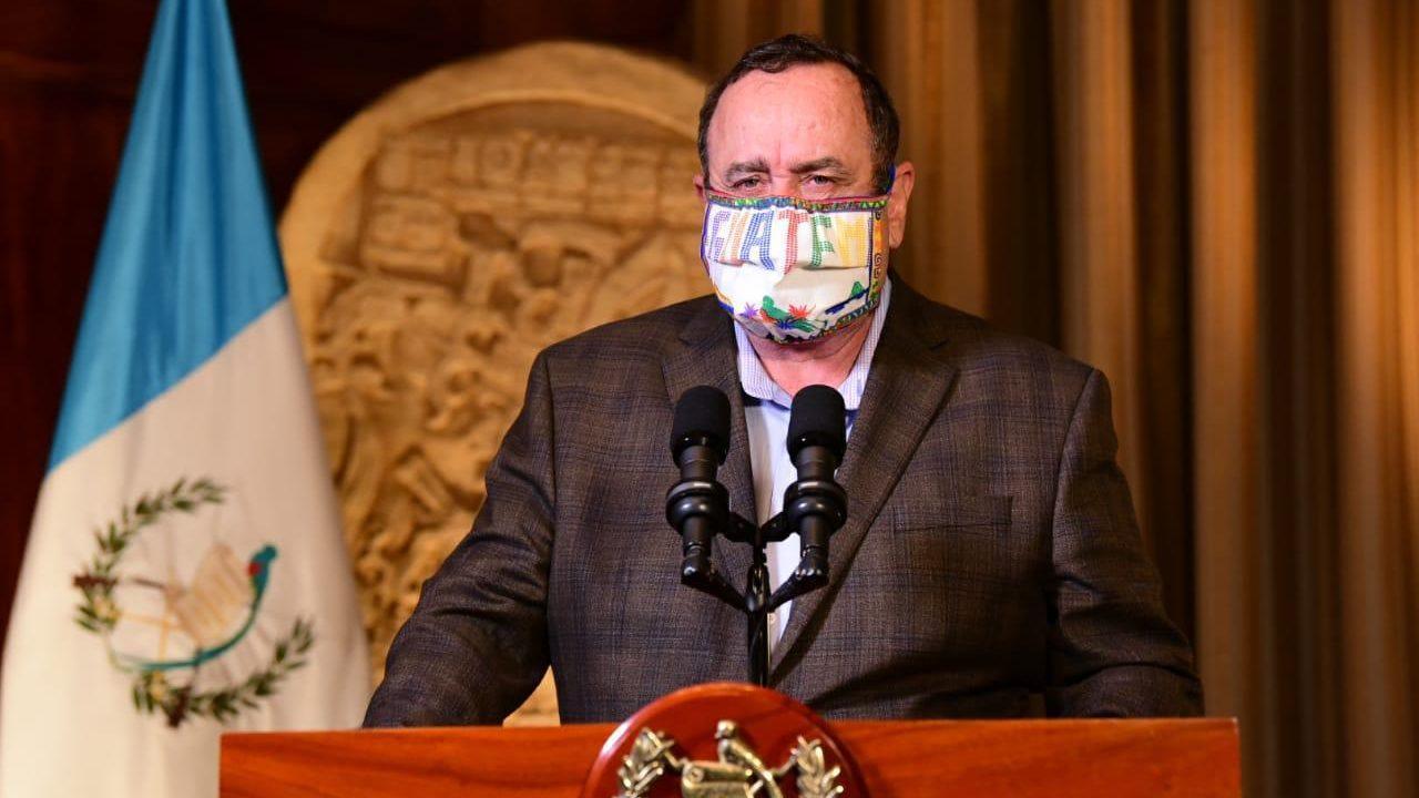 Presidente Giammattei anuncia mayor número de contagios para un día, 46 casos