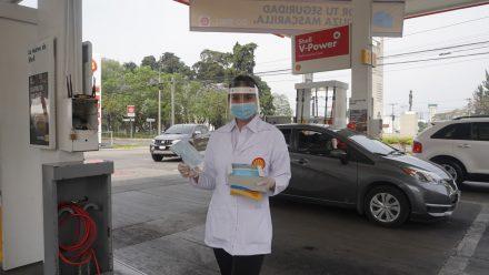 Shell contribuye a contención pandemia con entrega 100 mil mascarillas en gasolineras