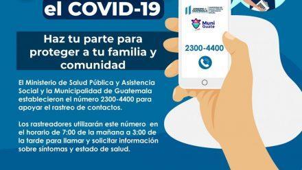 Autoridades presentan plan para rastreo de casos y contactos de Covid-19