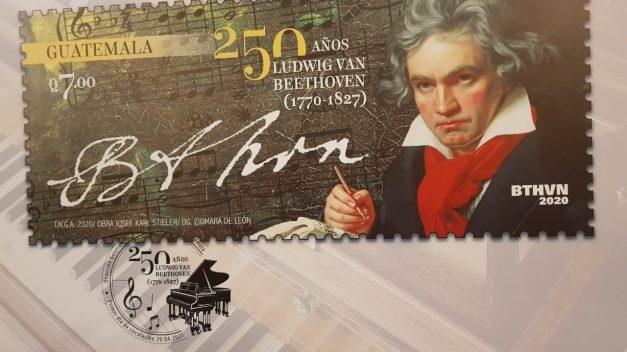Emiten sello postal en conmemoración de 250 años del natalicio de Beethoven